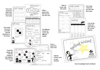 45 Phonics Revision Activities: Long vowels: /aɪ/ and /əʊ/ (igh, y, ow, oa)
