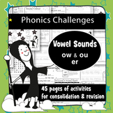 45 Phonics Revision Activities: Vowel Sounds: /aʊ/ and /əː