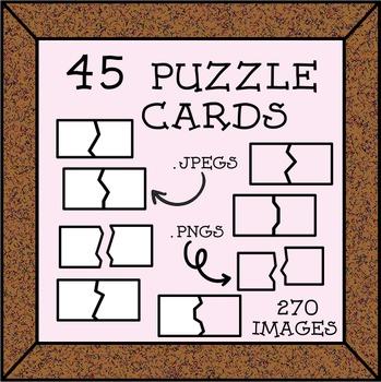 45 Puzzles ClipArt
