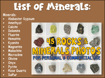 45 Rocks and Minerals Photos Photography Personal and Commercial Use