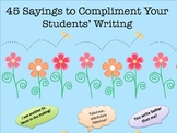 45 Sayings to Compliment Your Students' Writing