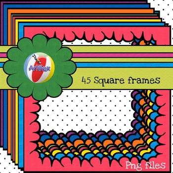 FRAMES. 45 Square Frames for Personal and Commercial Use