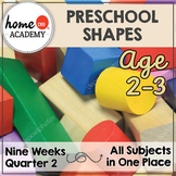 Preschool Curriculum SHAPES 9 Weeks for Preschool, PreK, Homeschool Preschool