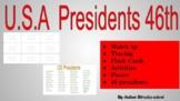 45 U.S President Bundle Pack, Flash cards, Worksheet And Tracing