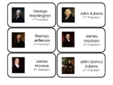 45 US Presidents Printable Flashcards. Preschool-Elementar