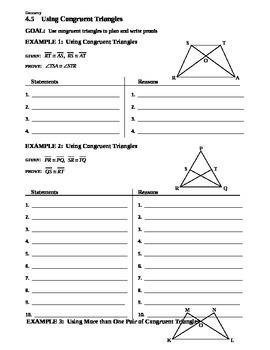 4.5 Using Congruent Triangles