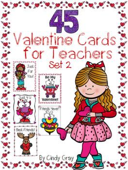 45 Valentine Cards for Teachers ~ Set 2