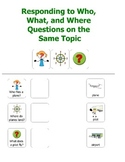 45 Who, What, Where Questions about 15 Topics - With Picture and Symbol Supports
