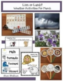 """Weather: Lion & Lamb"""" Weather-Themed Activities & Spring Crafts"""