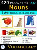 Photo Vocabulary Cards Bundle - 420 NOUNS - 3 Formats