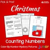 Counting Kindergarten Math Fall Christmas Kinder, 1st Grade Activities