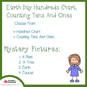Earth Day Hundreds Chart, Counting Tens And Ones