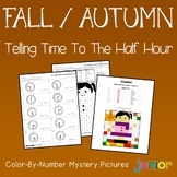 Fun Coloring Pages For Fall, Telling Time Color By Code (To The Half Hour)