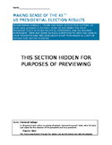 45TH US Presidential Election Guiding Questions