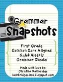 46 1st Grade GRAMMAR / Language Snapshots- Weekly Assessme