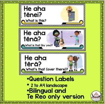 46  Te Reo Māori Classroom labels (with full sentences)