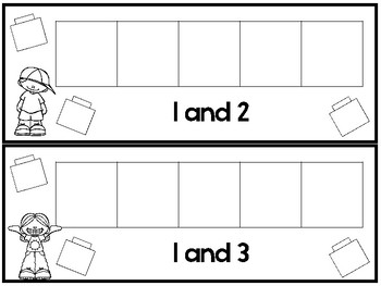 45 Adding With Cubes Printable Activity in a PDF file.Preschool-1st Grade Math.