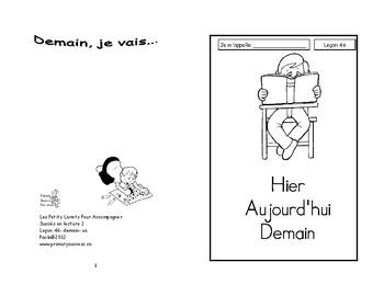 46) hier, aujourd'hui, demain - livret de lecture ENFANT C1 1ère-2e
