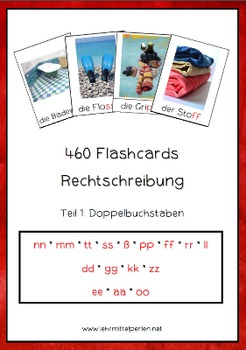 460 Flashcards: Correct Spelling of German Words