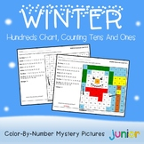 Place Value Center Winter, 100 Chart Mystery Picture Holiday Activities Coloring