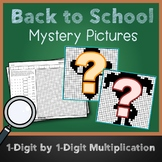 3rd Grade Math Back To School Multiplication Color Sheet Mystery Pictures