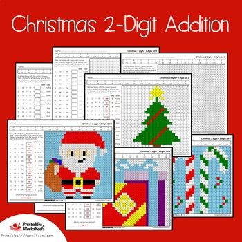 Color By Number Addition Christmas Morning Work Math Worksheets