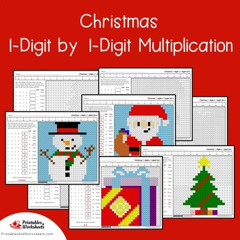 Color By Code Multiplication Facts Christmas Christmas Math Review Packet