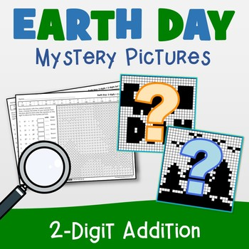 Earth Day 2 Digit Addition Coloring Pages