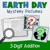 Earth Day 3 Digit Addition Coloring Pages