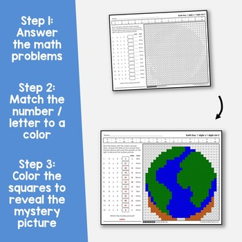 Earth Day 1-Digit by 1-Digit Multiplication Coloring Pages
