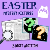 Easter 2 Digit Addition Coloring Pages