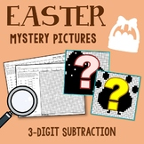 Easter 3 Digit Subtraction Coloring Pages