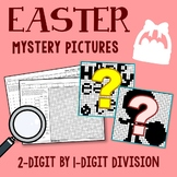 Easter 2-Digit by 1-Digit Division Coloring Pages