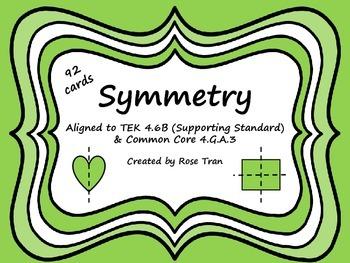 4.6B & CC 4.G.A.3 Symmetry Task Cards