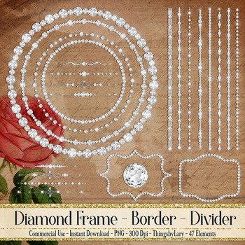 47 Diamond Frame Diamond Dividers Diamond String Clip Arts