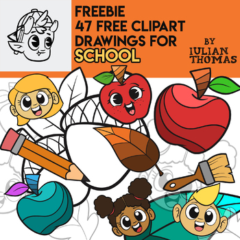 47 FREE CLIPART DRAWINGS for SCHOOL by IulianThomas
