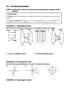 4.7 Functions and Relations