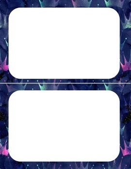 47 Mermaid Glitter Cards
