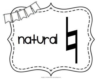 Music Symbol Posters {47 8.5×11 Chalkboard, Chevron, Cork Signs}