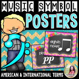 Music Symbol Posters {47 8.5×11 Chalkboard, Chevron, Cork Signs}