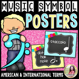 Music Symbol Posters {Chalkboard & Vivid Glitter}