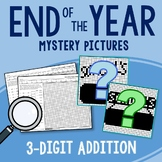 End of the Year 3 Digit Addition Coloring Pages