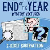 End of the Year 2 Digit Subtraction Coloring Pages