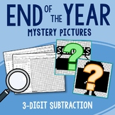 End of the Year 3 Digit Subtraction Coloring Pages