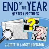 End of the Year 2-Digit by 1-Digit Division Coloring Pages