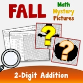 Color By Sum, Fall Color By Number Addition Worksheets, Mystery Picture Activity