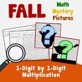 Single Digit Multiplication, Fall Multiplication Color By Number Worksheets