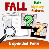 Expanded Form Fall Math Color By Number Mystery Pictures Coloring Sheets