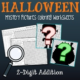 Halloween 2 Digit Addition Coloring Pages