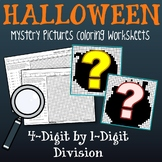 Color By Number Long Division Math Worksheets Halloween Fun Sheets